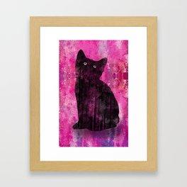 Cat Inkwash Framed Art Print