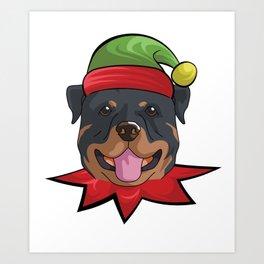 elfdog rottweiler Art Print