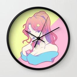 Pastel Star Wall Clock