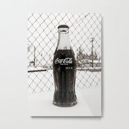 Frosty Coke Metal Print