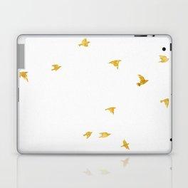 Raven Birds in Gold Copper Bronze Laptop & iPad Skin