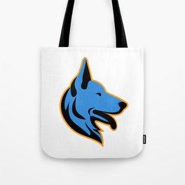 German Shepherd Dog Side Mascot Tote Bag
