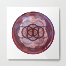 Rose Colored Mandala Metal Print