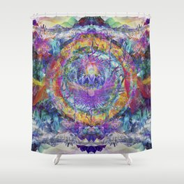 Crystal Mountains Two Shower Curtain