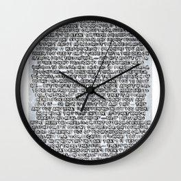 Artist's Statement Wall Clock
