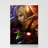samus Stationery Cards featuring Samus by KlsteeleArt
