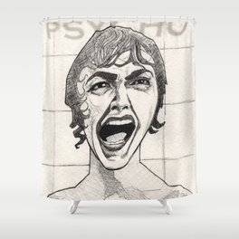 The Shower Scene Shower Curtain
