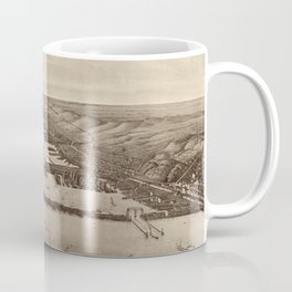 Vintage Pictorial Map of Duluth MN & Superior WI Coffee Mug