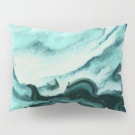 Abstract marbling mint Pillow Sham