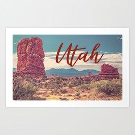 Utah Travel Desert Landscape Print Art Print