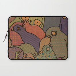 A bunch of birds in blue mosaic  Laptop Sleeve