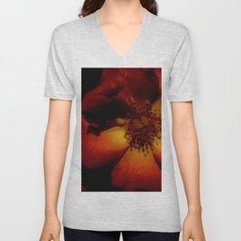 Tawny Autumn Roses Unisex V-Neck
