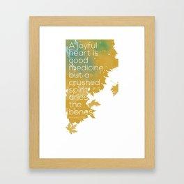 A joyful heart Framed Art Print