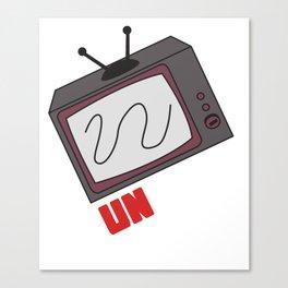 Funny Sarcastic Novelty Unplug Tshirt Design Unplug tv Canvas Print