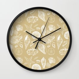 Shells Tan Wall Clock