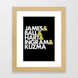 Lakers Lineup: LeBron & Young Core Framed Art Print