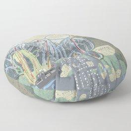 Granite Peak Resort Trail Map Floor Pillow