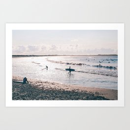 Second Beach Surf Day Art Print