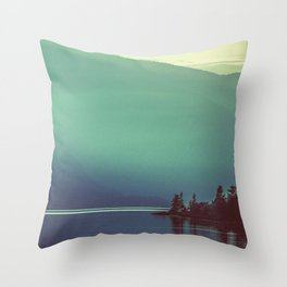 Summer at the Lake Turquoise Throw Pillow