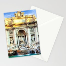 Trevi Fountain and Pool - Rome, Italy Stationery Cards