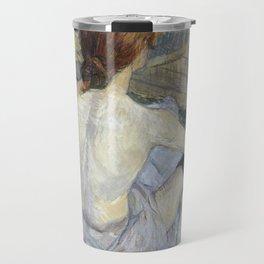 """Henri de Toulouse-Lautrec """"Rousse (La Toilette)"""" Travel Mug"""