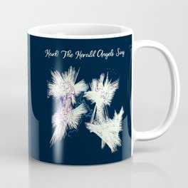 Hark! The Herald Angels Sing Christmas Abstract Coffee Mug