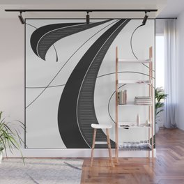 Letter A - Script Lettering Cropped Design Wall Mural
