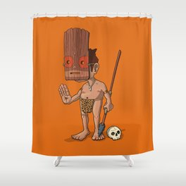 The Witch Doctor Shower Curtain
