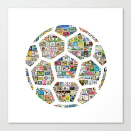 Philately Soccer Ball Canvas Print