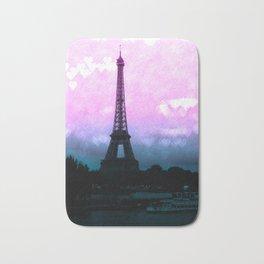 Paris Eiffel Tower : Lavender Teal Bath Mat