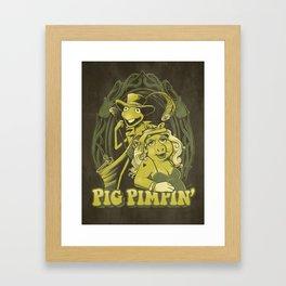 Pig Pimpin Framed Art Print
