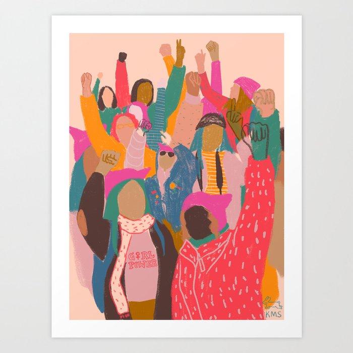 Womens march Kunstdrucke