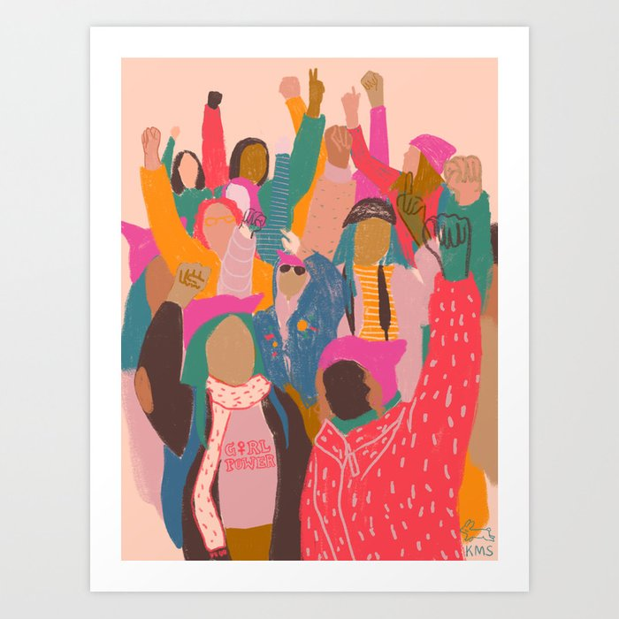 Womens march Kunstdrucke