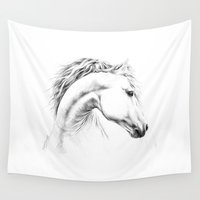horse Wall Tapestries featuring Horse by eDrawings38