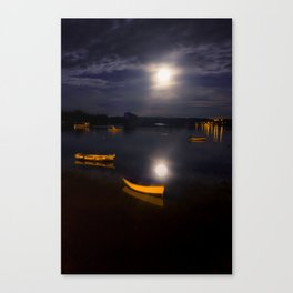 Full moon on Biscay Bay Canvas Print