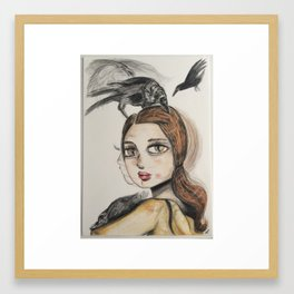 Raven series. Framed Art Print