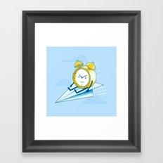 Times Flies (color option) Framed Art Print