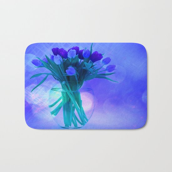 A Blue Bloom for Spring Bath Mat