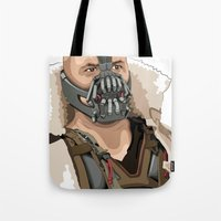 bane Tote Bags featuring Bane by Thomas Moore