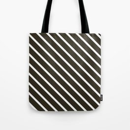 Molasses Diagonal Stripes Tote Bag