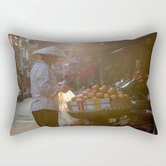 Vietnam Streets Rectangular Pillow