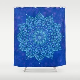 Galaxy Blue Mandala Shower Curtain
