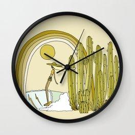 endless california summer vibes // retro surf art by surfy birdy Wall Clock