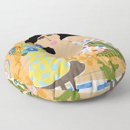 Cozy saturday evening Floor Pillow