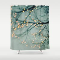 lights Shower Curtains featuring Lights  by Laura Ruth