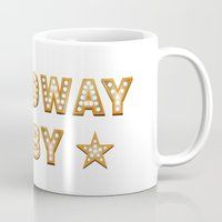 broadway Mugs featuring Broadway Baby! by byebyesally