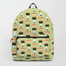 Salmon Dreams in wasabi, small Backpack