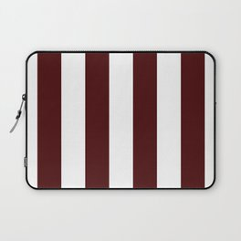 Narrow Stripes - White and Bulgarian Rose Red Laptop Sleeve