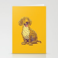 daschund Stationery Cards featuring Take a Woof on the Wild Side! by victor calahan