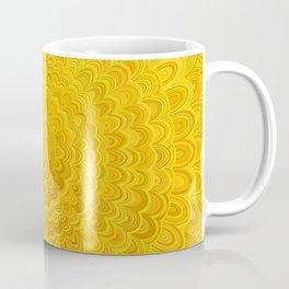Golden Flower Mandala Coffee Mug
